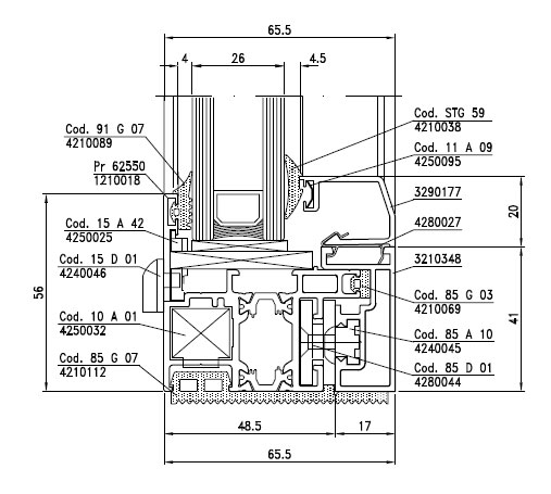 Sezione-Domal-Wood-PA-85