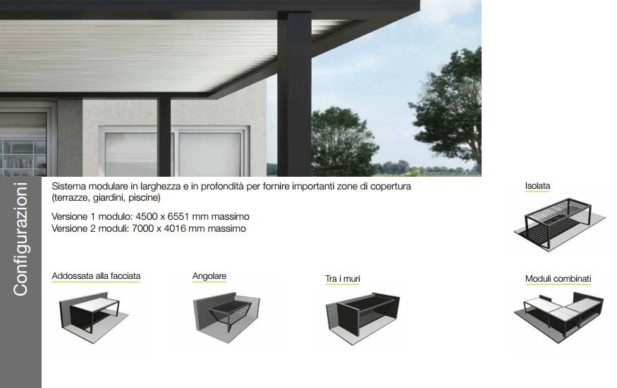 Configurazioni Domal Altrove Pergola