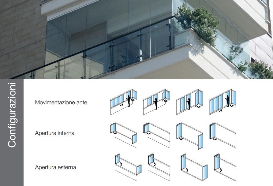 Domal Altrove Weese Vetrata scorrevole - configurazioni